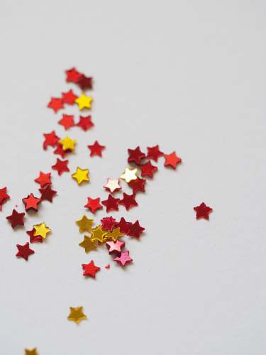 background red and yellow star ornament lot stars