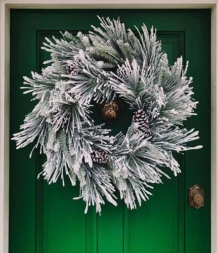 grey round white wall wreath illustration wreath