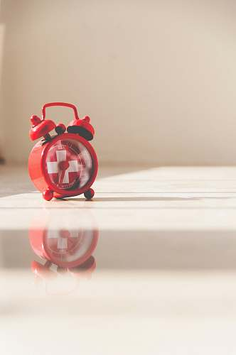 alarm clock red twin bell alarm clock red