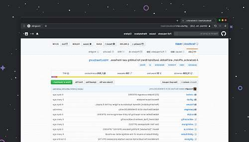 github Github website on desktop code repository