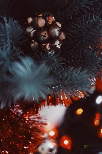 chocolate silver bauble on Christmas tree dessert