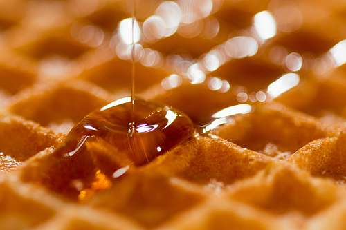 waffle waffle with syrup breakfast