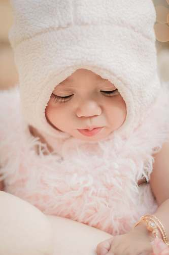 photo apparel baby wearing white hat clothing free for commercial use images