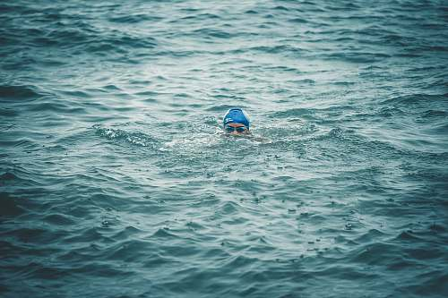 photo person person swimming on body of water during daytime sport free for commercial use images