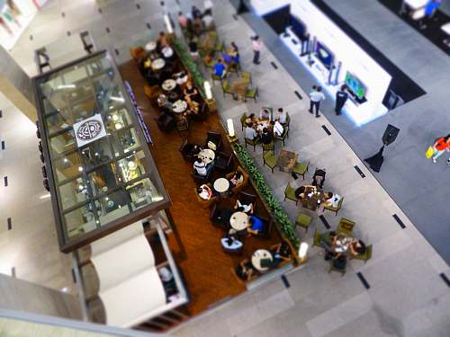 photo food aerial view of people eating inside building during daytime hong kong free for commercial use images