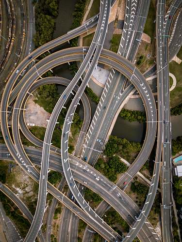 nature concrete road in aerial photography landscape