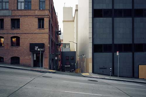 city empty street building