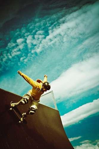photo skateboarder man doing skateboard trick skatepark free for commercial use images