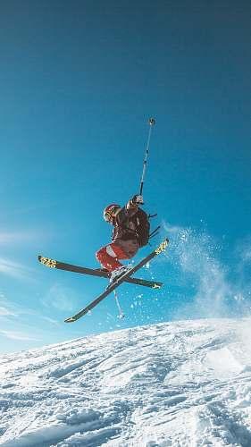 snow man skiing on land skiing