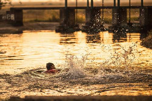 photo sports person swimming at water water free for commercial use images