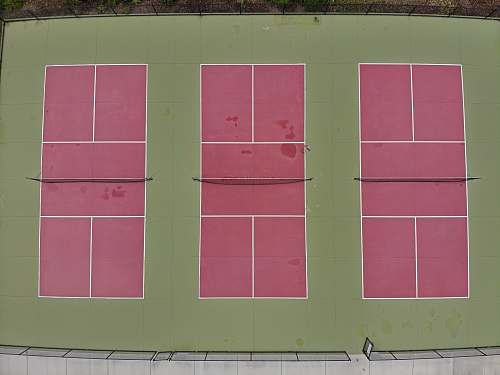 sports three red and green tennis courts tennis court