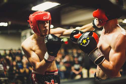 sports two man playing boxing boxing