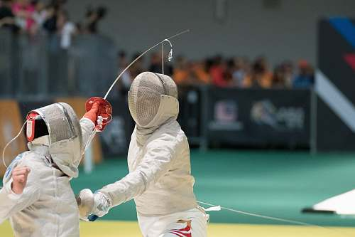 photo fencing two person fencing inside the gym sports free for commercial use images