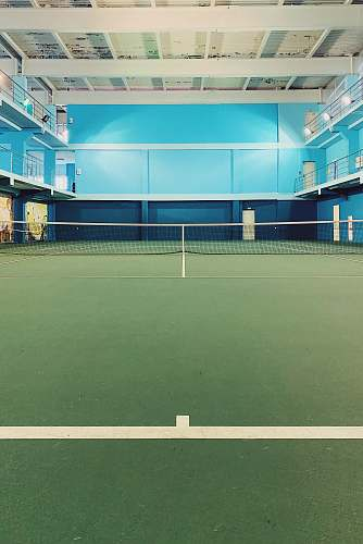 sports wmpty sports ha;; tennis court