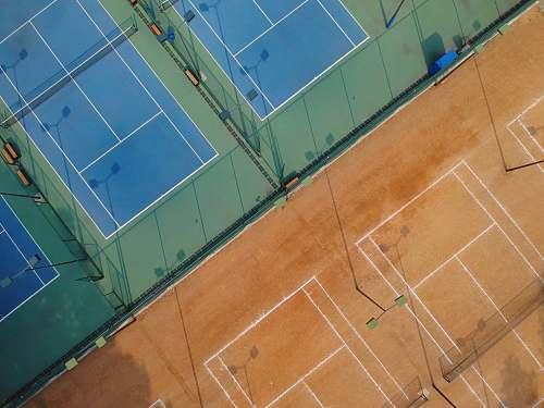 sport aerial photo of tennis courts tennis court