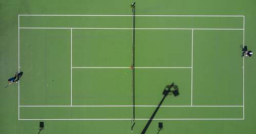 sport high angle photography of sports field tennis court