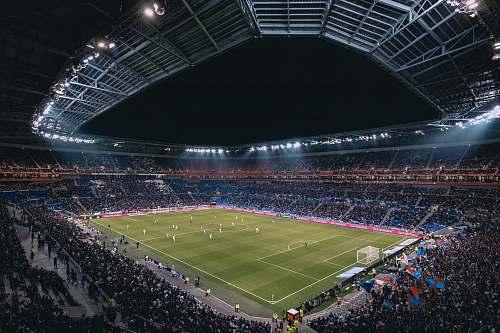 crowd soccer stadium arena