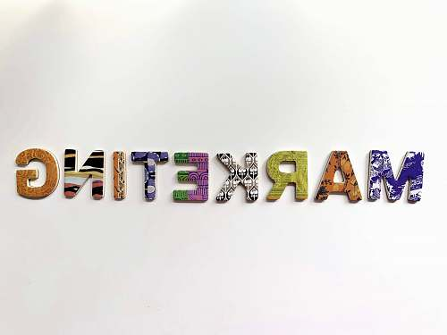alphabet multicolored marketing freestanding letter number