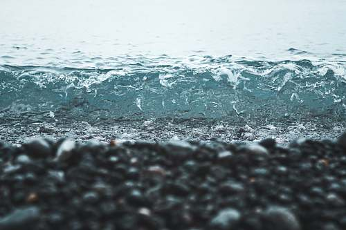 sea seashore rock