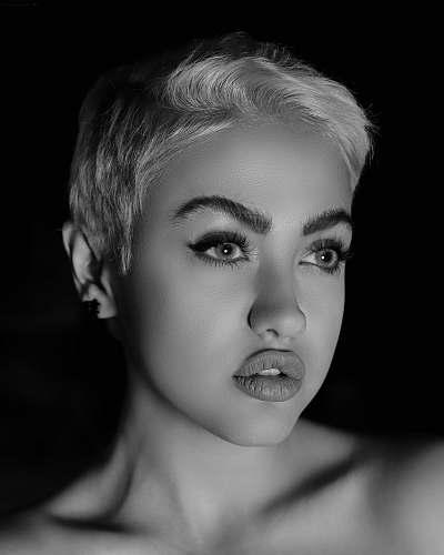 face close-up photography of woman human