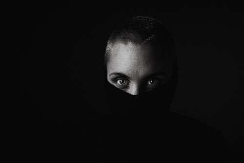 face grayscale photo of woman face portrait