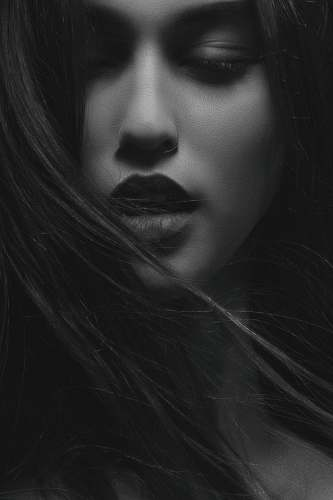 person grayscale photography of womens face human