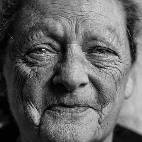 portrait grayscale picture of person's portrait person