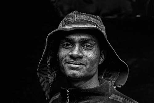 portrait man wearing hoodie human