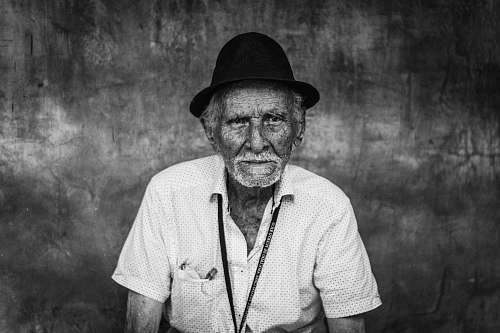 people man wearing shirt and hat portrait