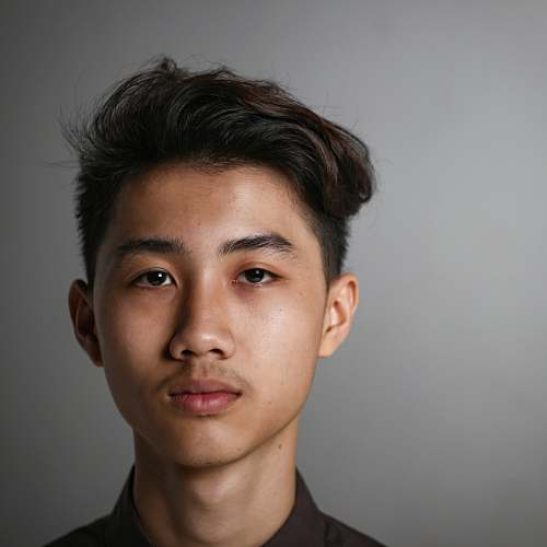 human boy's face close-up photography face