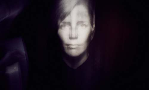portrait grayscale photography of person face