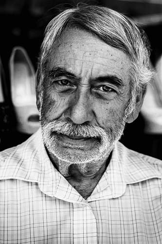 black-and-white grayscale photography of portrait man portrait