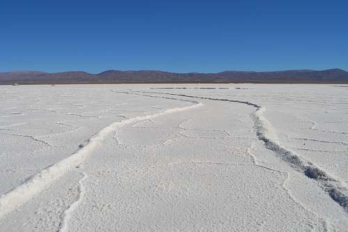 outdoors white sand in shallow focus salinas grandes