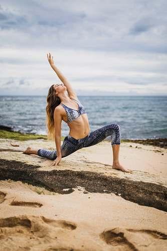 yoga woman doing yoga pose sports