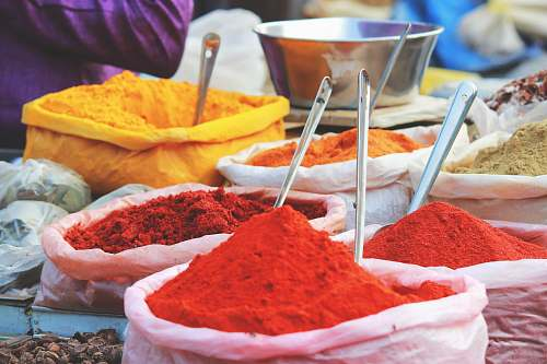 spice assorted-color powders india