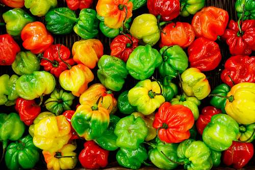 vegetable bunch of bell peppers produce