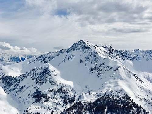 snow snowy mountain nature