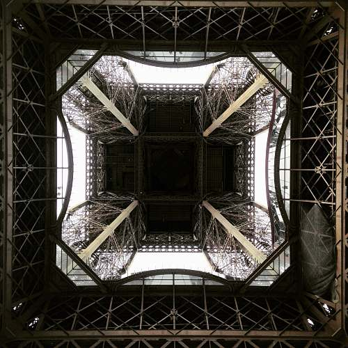 photo france worm's eye view photography of steel structure eiffel tower free for commercial use images