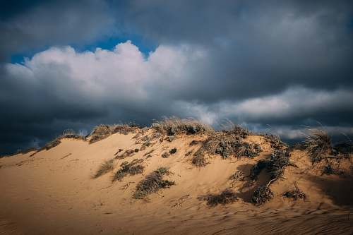 nature white clouds sand