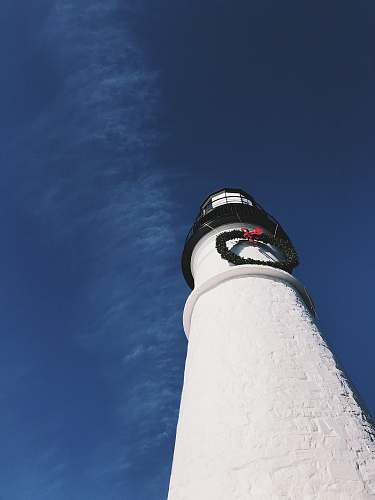 photo beacon wormseye photography of white light house cape elizabeth free for commercial use images