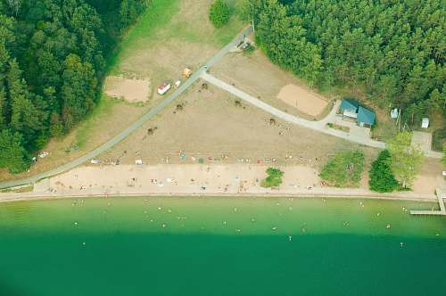water aerial view photography of beachfront nature