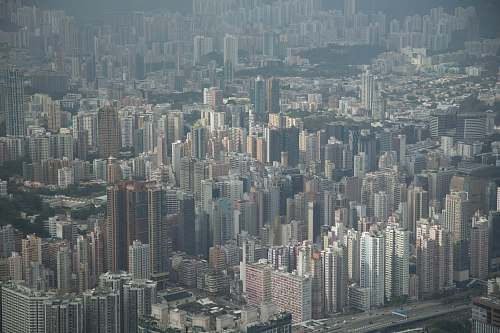 urban aerial photography of city city