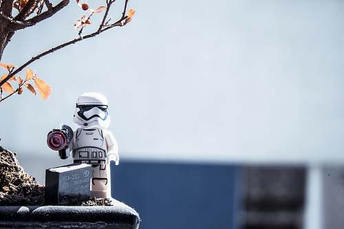 toy Star Wars Stormtrooper Lego mini fig tree
