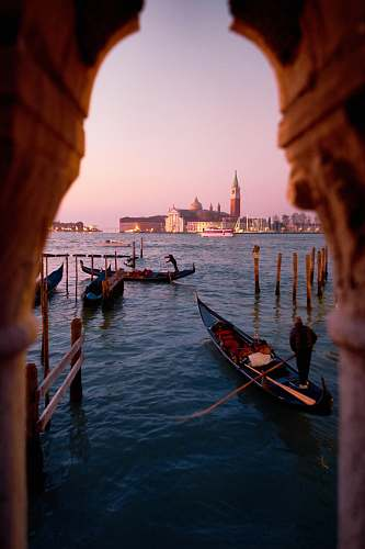 boat Grand Canal, Venice, Italy transportation