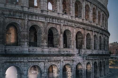 building Colosseum Italy colosseum