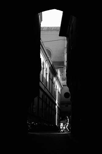 photo black-and-white grayscale photography of pathway bologna free for commercial use images