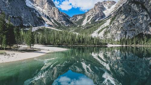 mountain landscape photography of lake and mountain nature
