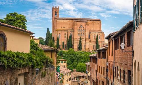 photo building landscape photography of village siena free for commercial use images