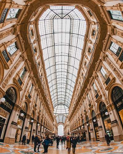 architecture people standing inside building milan