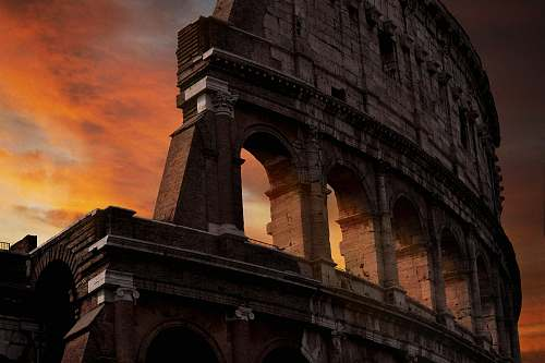 architecture photo of Colosseum during golden hour building